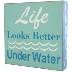 Underwater Table Top Sign - 8 in.