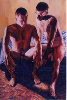 Raphael Perez, gay couple love and relationship painting homoerotic artwork homosexual art Painter Artist, Artist Painting, Art Paintings, Realistic Paintings, Gay Couple, Couple Painting, Love Painting, Art Gay, Lgbt