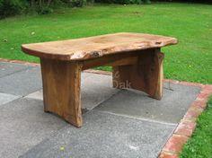 Waney Edged Garden Table - Rustic Oak Furniture