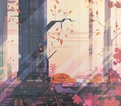 The vector artist's latest works are an intriguing mix of geometric distortion and retro themes.