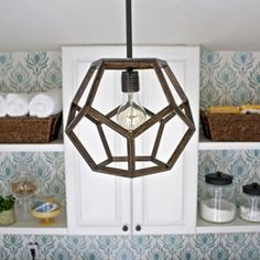 Make your own faceted pendant light