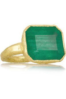 Pippa Small 18-karat gold emerald ring | NET-A-PORTER