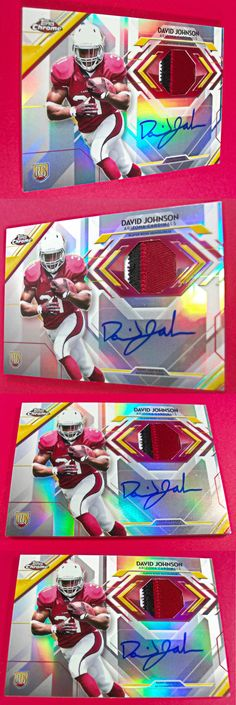Sports Memorabilia: 2015 Topps Chrome David Johnson Rookie Auto Sp Used Patch Jersey Rc Signature #1 -> BUY IT NOW ONLY: $115.99 on eBay!
