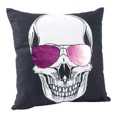 Skull glasses cushion