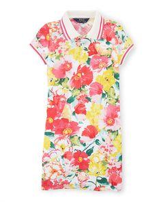 Floral Cotton Polo Dress - Girls 7-16 Dresses & Skirts - RalphLauren.com