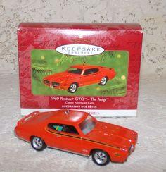 "Hallmark Keepsake 1969 Pontiac GTO ""The Judge"" Classic American Cars Series 2000 #HallmarkKeepsakeCollectorsSeries #Ornament"