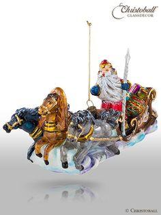 Weihnachtsform Troika Pferd weihnachtsmann