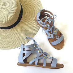 Light Blue Gladiator Sandals