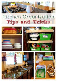Kitchen Organization Ideas, orgnize the kitchen, spring cleaning