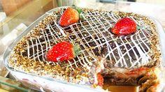 Torta trufada de morango. #confeitariapolos #goiania  (em Polos Pães e Doces)