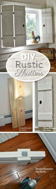 Check out how to build easy DIY rustic window shutters /istandarddesign/