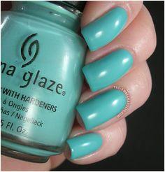 China Glaze For Audrey/..Tiffany blue...