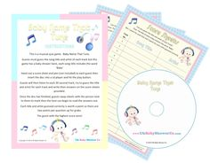 Baby Shower Game - Baby Name That Tune! Unisex (20 Guests): Amazon.co.uk: Baby
