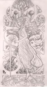 Art nouveau tattoo design. I want to incorporate Varda Elentari and the two trees of valinor