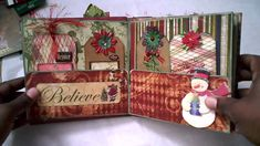 2010 File Folder Christmas Mini Album. AMAZING mini album, SO many great ideas from this video!! --cj