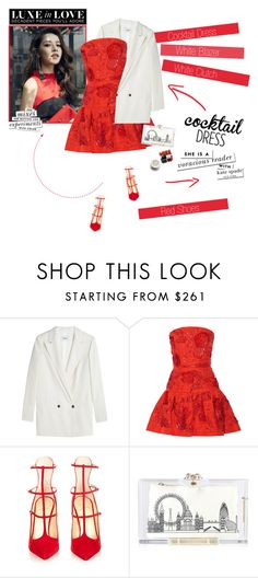"""No 324:Cocktail Dress (2)"" by lovepastel ❤ liked on Polyvore featuring Ganni, Oscar de la Renta, Christian Louboutin, Charlotte Olympia, Kate Spade and cocktaildress"