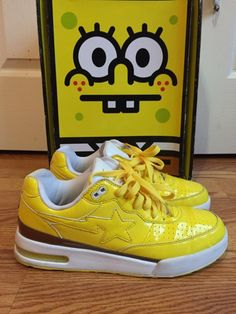 f3ac52cd2024 Bape Bape X Spongebob Roadsta Size 9  315 - Grailed Bape