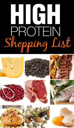 High Protein Shopping List - Protein is power—at least when you're losing weight and maintaining a healthier body. #highproteinrecipes #cleaneating #shoppinglist