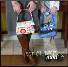 scripture bag/tote with tutorial and pattern.
