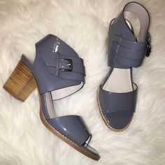 """Gray Aldo Sandals in Size 7.5 Brand new gray ALDO sandals with a two-snap closure on the side. Heel measures 2.5"""" inches. Very comfortable and perfect with jeans or the office! ALDO Shoes Sandals"""