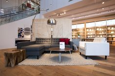 Liberty Village opens at Hanna Avenue Living Spaces, Living Room, Room Planning, Window Treatments, Home And Living, Future House, Floor Lamp, Bedroom Ideas, Home Goods
