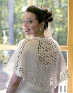 Free Knitting Pattern for Summer Shawlette - Lace shawl with shoulder shaping th. Free Knitting Pattern for Summer Shawlette - lace scarf with shoulder shaping that keeps the scarf in place. who sit on their shoulders and stay there. Vogue Knitting, Lace Knitting, Knitting Patterns Free, Knit Patterns, Finger Knitting, Wedding Shawl, Knitted Shawls, Lace Shawls, Lace Scarf