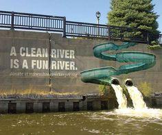Milwaukee River Keeper - Street Marketing & Ambient Marketing