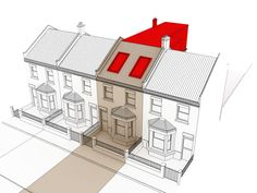 L shaped loft conversion plans terrace - Google Search