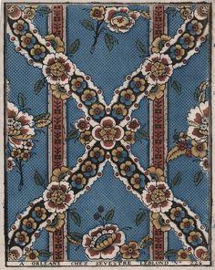 Wallpaper I Le papier dominoté I Paris I Home of Antoinette Poisson Vintage Textiles, Vintage Patterns, Vintage Prints, Vintage Floral, Mosaic Patterns, Textile Patterns, Print Patterns, Pattern Ideas, Old Wallpaper