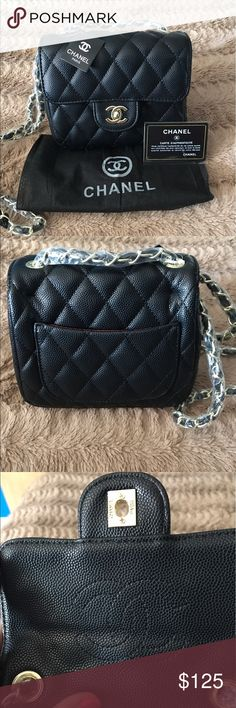 😍Super cute mini caviar quilted bag Mini quilted caviar shoulder bag. Comes with dust bag and card chanel Bags Mini Bags