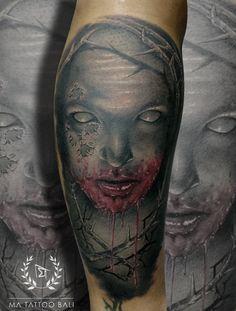 Horror Tattoo by : Prima #MaTattooBali #BlackgreyTattoo #HorrorTattoo #BaliTattooShop #BaliTattooParlor #BaliTattooStudio #BaliBestTattooArtist #BaliBestTattooShop #BestTattooArtist #BaliBestTattoo #BaliTattoo #BaliTattooArts #BaliBodyArts #BaliArts #BalineseArts #TattooinBali #TattooShop #TattooParlor #TattooInk #TattooMaster #InkMaster #AwardWinningArtist #Piercing #Tattoo #Tattoos #Tattooed #Tatts #TattooDesign #BaliTattooDesign #Ink #Inked #InkedGirl #Inkedmag #BestTattoo #Bali Ma Tattoo, Piercing Tattoo, Tattoo Shop, Tattoo Studio, Tattoo Master, Ink Master, Fine Line Tattoos, Cool Tattoos, Leg Sleeves