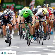 #Repost @supacaz with @repostapp. ・・・ SUPACAZ dominates the podium #cycling #tdf2015 #cavendish #sagan #greipel