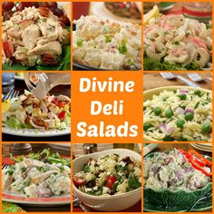 56 Divine Deli Salads. Bring these deli salad recipes to your next picnic, BBQ or potluck. Everyone will love these easy and tasty side dish recipes!