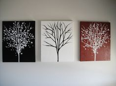 Tree of Life canvas painting by DoodlesinBloom on Etsy, $180.00