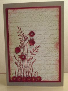 simple and elegant Long Stem Flowers, Girl Pictures, Cardmaking, Greeting Cards, Elegant, Simple, Frame, Projects, Crafts
