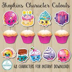 Shopkins Character Cutouts Perfect As Cupcake By Kardography