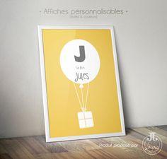 Affiche Ballon Prénom [à personnaliser]