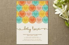 Circles with hearts - would translate well to two tones of cardstock on a kraft background.