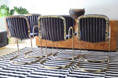 Cidue Italy Set of 6 Vintage Brass Dining Chairs   eBay