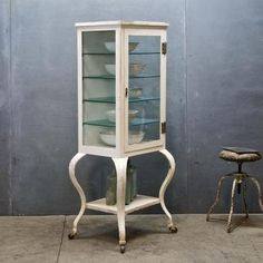 I have one similar to this,but I love this Vintage Pharmacy Apothecary Cabinet