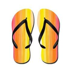 Rainbow - red to yellow, Flip Flops > Flip Flops > Ornaart