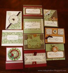 sample of cards made from one sheet wonder 12x12 pp