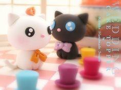 LOVE ANGELS Wedding Cake Topper-love cat,love kitty by charles fukuyama, via Flickr