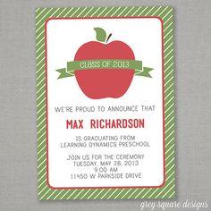 23 best kindergarten graduation invitations images on pinterest preschool graduation invitation filmwisefo