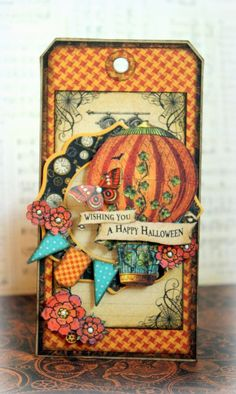What a great Steampunk Spells tag by Romy #graphic45 #tags