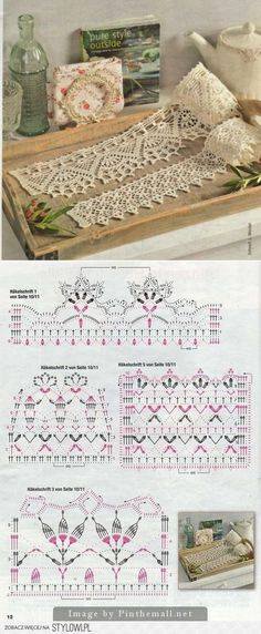 Вязание | Häkelborten, Häkeln und Häkelspitze