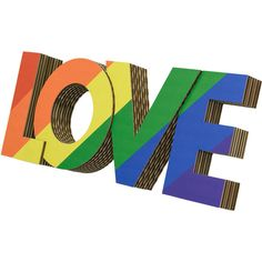 Rainbow Love Cardboard Wall Art (57 CAD) ❤ liked on Polyvore featuring home, home decor, wall art, black, home & living, home décor, wall décor, animal wall art, black home decor and wall hanging