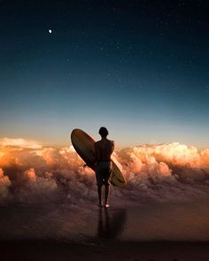 Have you ever dreamt of surfing on clouds or exploring the sparkling spiral arms of the galaxy? German self-taught Photoshop expert Justin Peters visualizes these surreal fantasies in his growing portfolio of digital art. Digital Art Photography, Photoshop Photography, Photography Photos, Creative Photography, Inspiring Photography, Photography Tutorials, Photography Challenge, Beauty Photography, Pablo Picasso