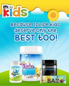Don't let your child's nutrition suffer any longer. Kids are popping up everywhere with diabetes, obesity, and hundreds of health issues. Thanks to technology, lack of exercise, play time, gmo filled foods. Let's change and help our children do the same. IDLIFE has a kids multivitamin, protein, snack bars, and hydrate to help with your child's healthy development. Click the link for information how you can get your kids and adult products. http://mywayoflife321.idlife.com