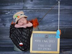 69 ideas photography baby boy newborn birth announcements for 2019 Baby Boy Photos, Newborn Pictures, Baby Pictures, Newborn Boy Photos, Newborn Session, Baby Boys, Baby Boy Newborn, Fishing Nursery, Boys Fishing Bedroom